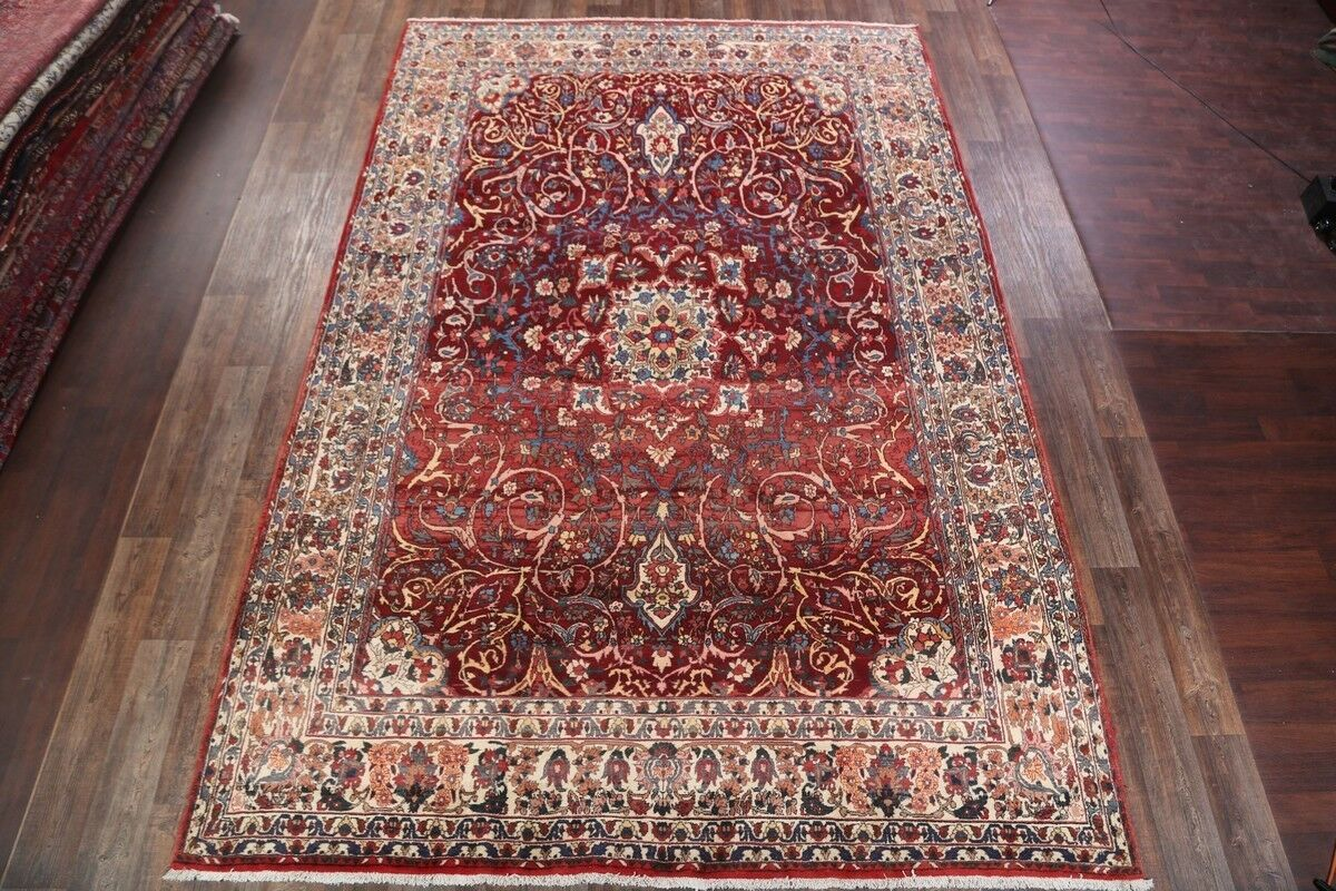 One-of-a-Kind Traditional Bakhtiari Persian Hand-Knotted 9'10