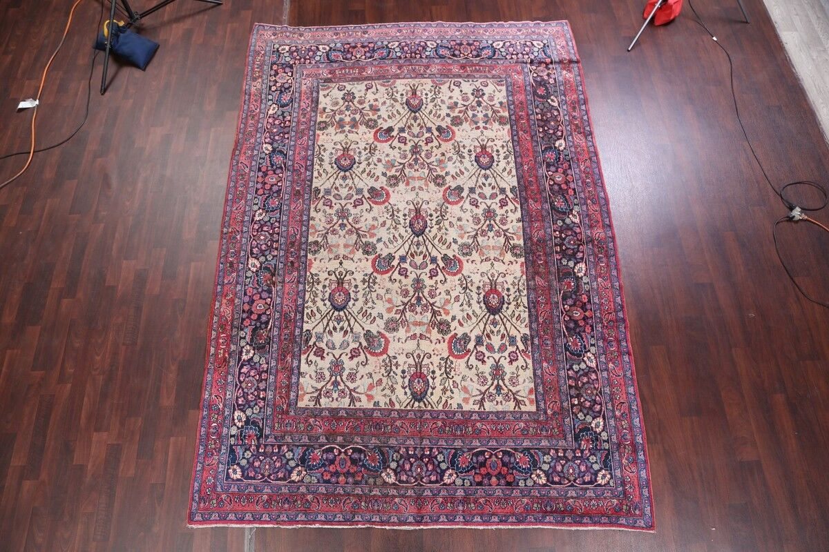 One-of-a-Kind Dorokhsh Floral Persian Hand-Knotted 7'8