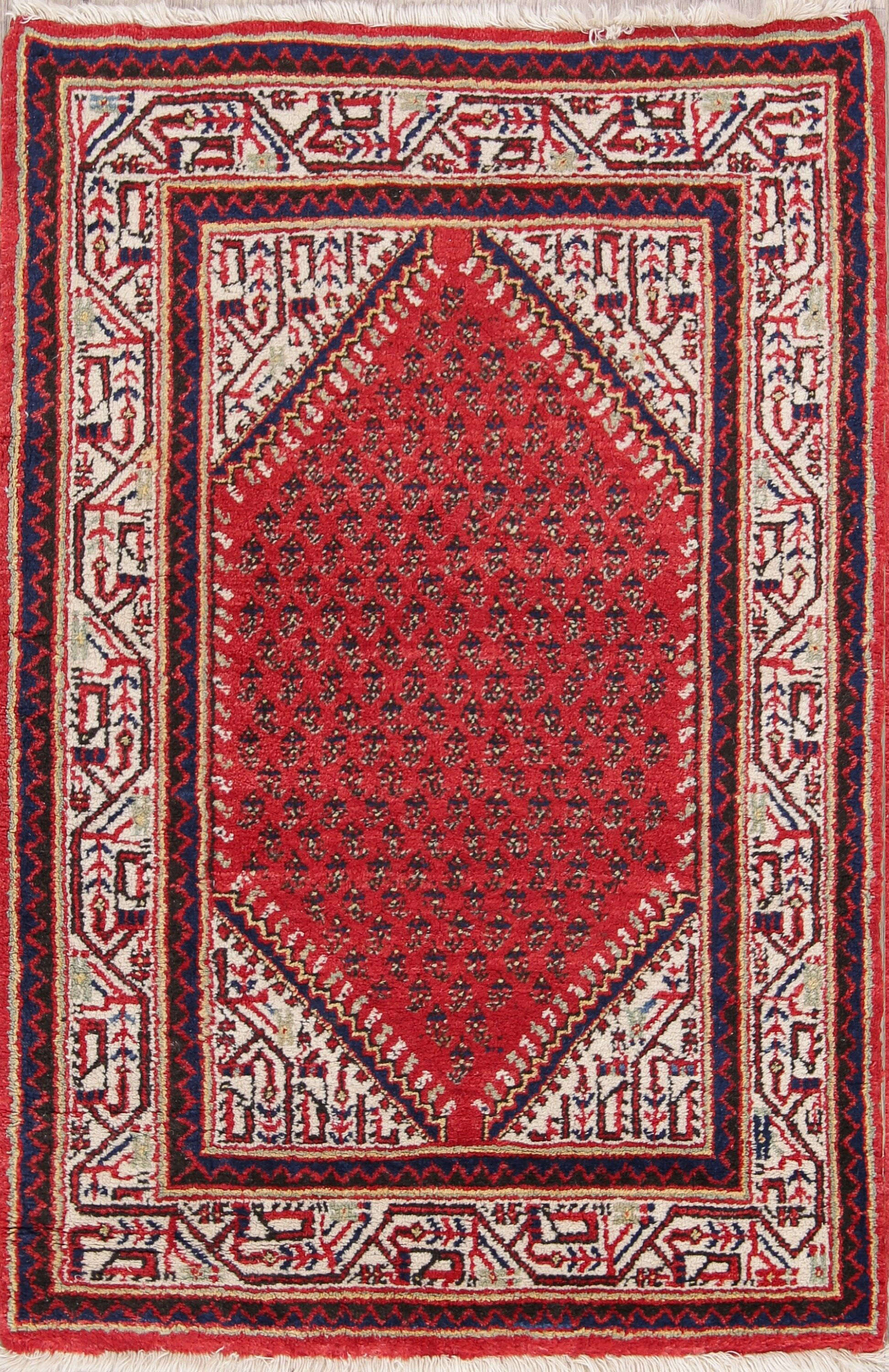 One-of-a-Kind Botemir Geometric Persian Hand-Knotted 2'8