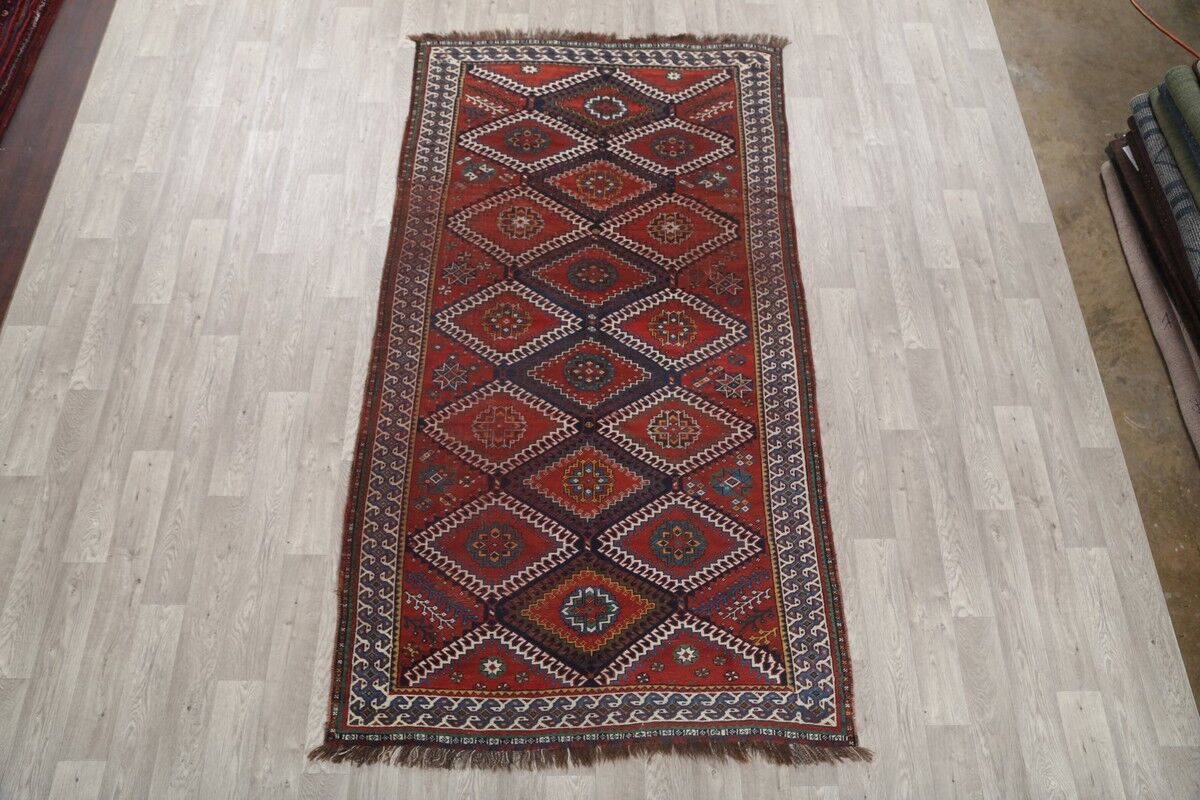 One-of-a-Kind Geometric Lori Shiraz Persian Hand-Knotted 5'3