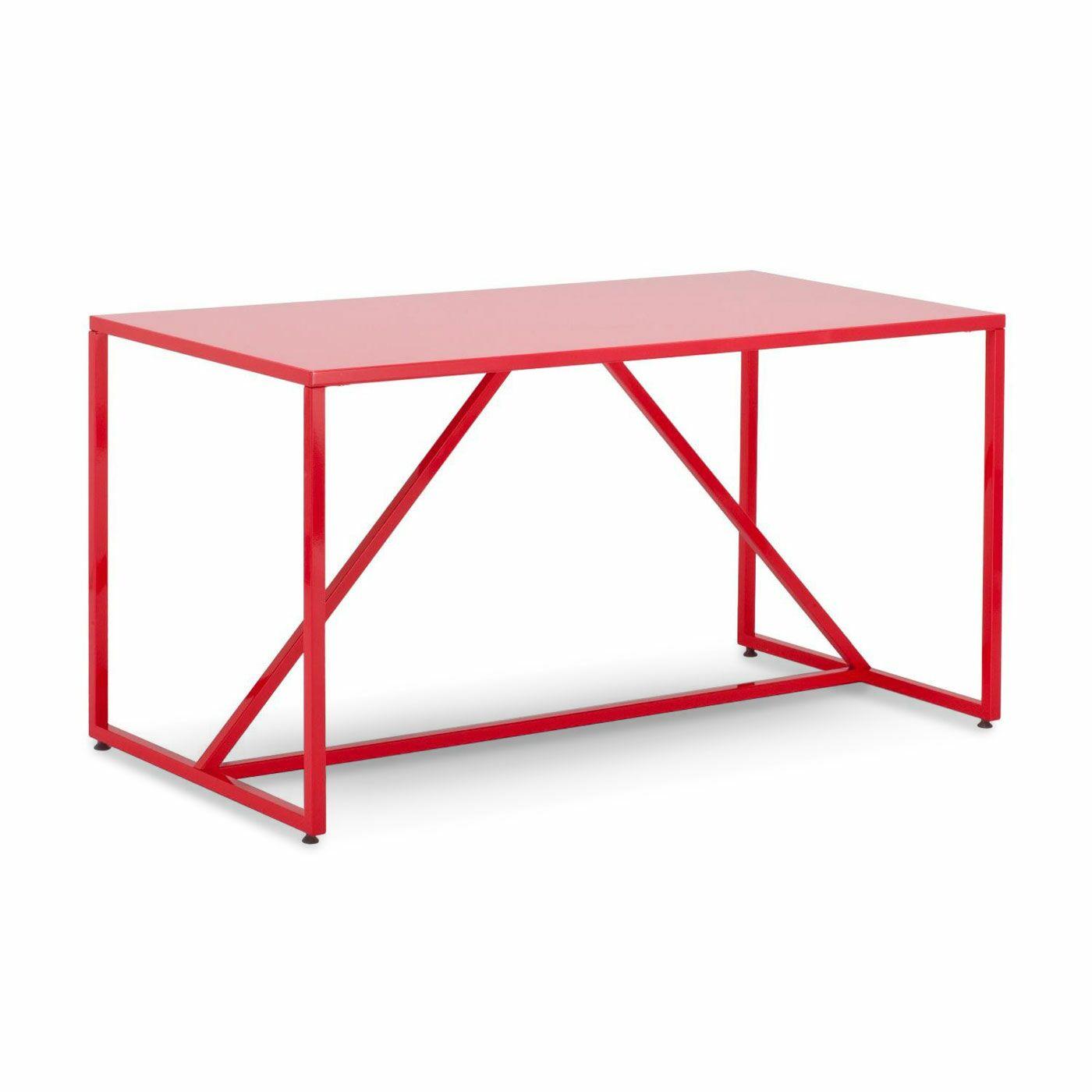 Strut Table Table Color: Watermelon, Table Size: Medium - 56
