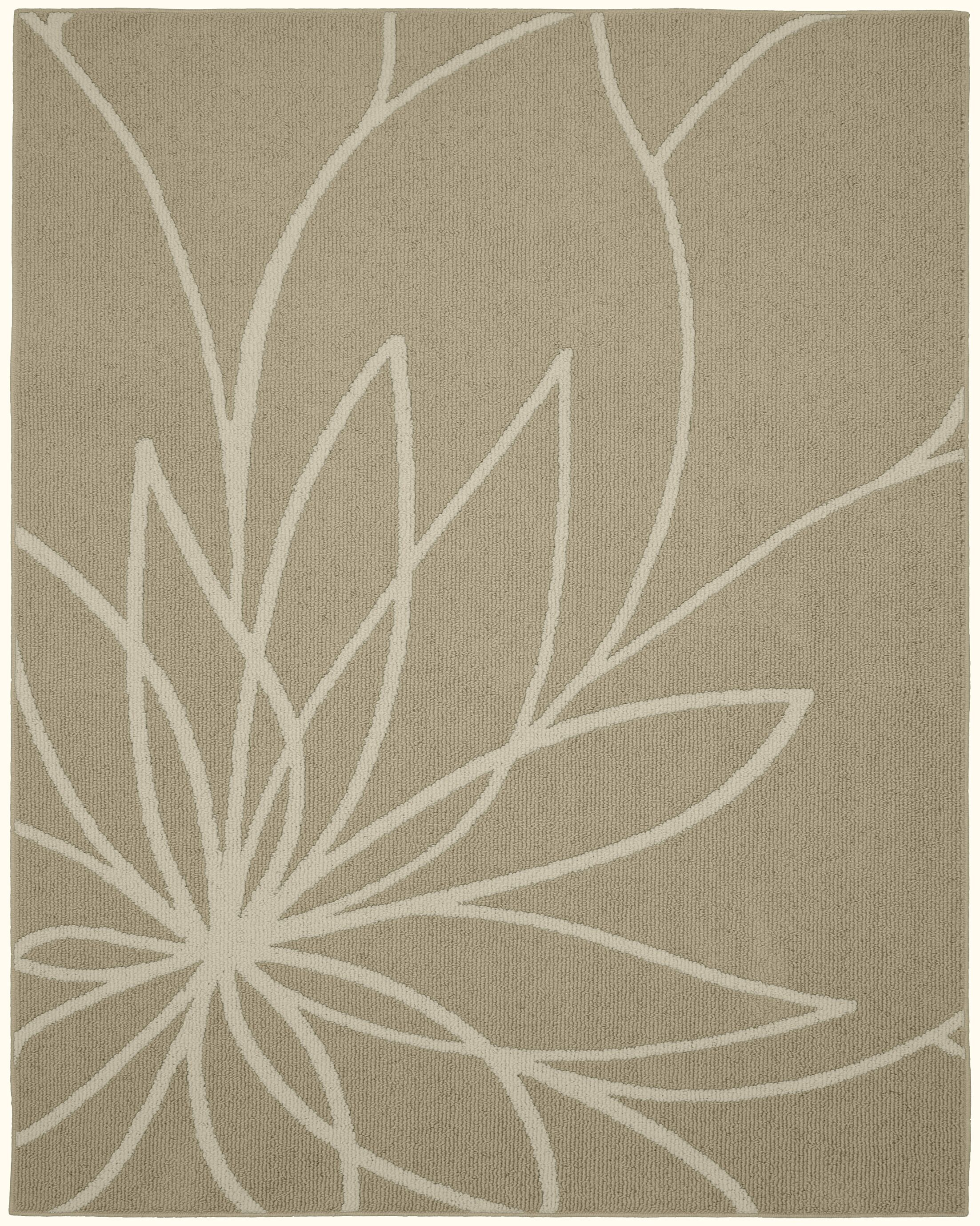 Grand Floral Tan/Ivory Area Rug Rug Size: Rectangle8' x 10'