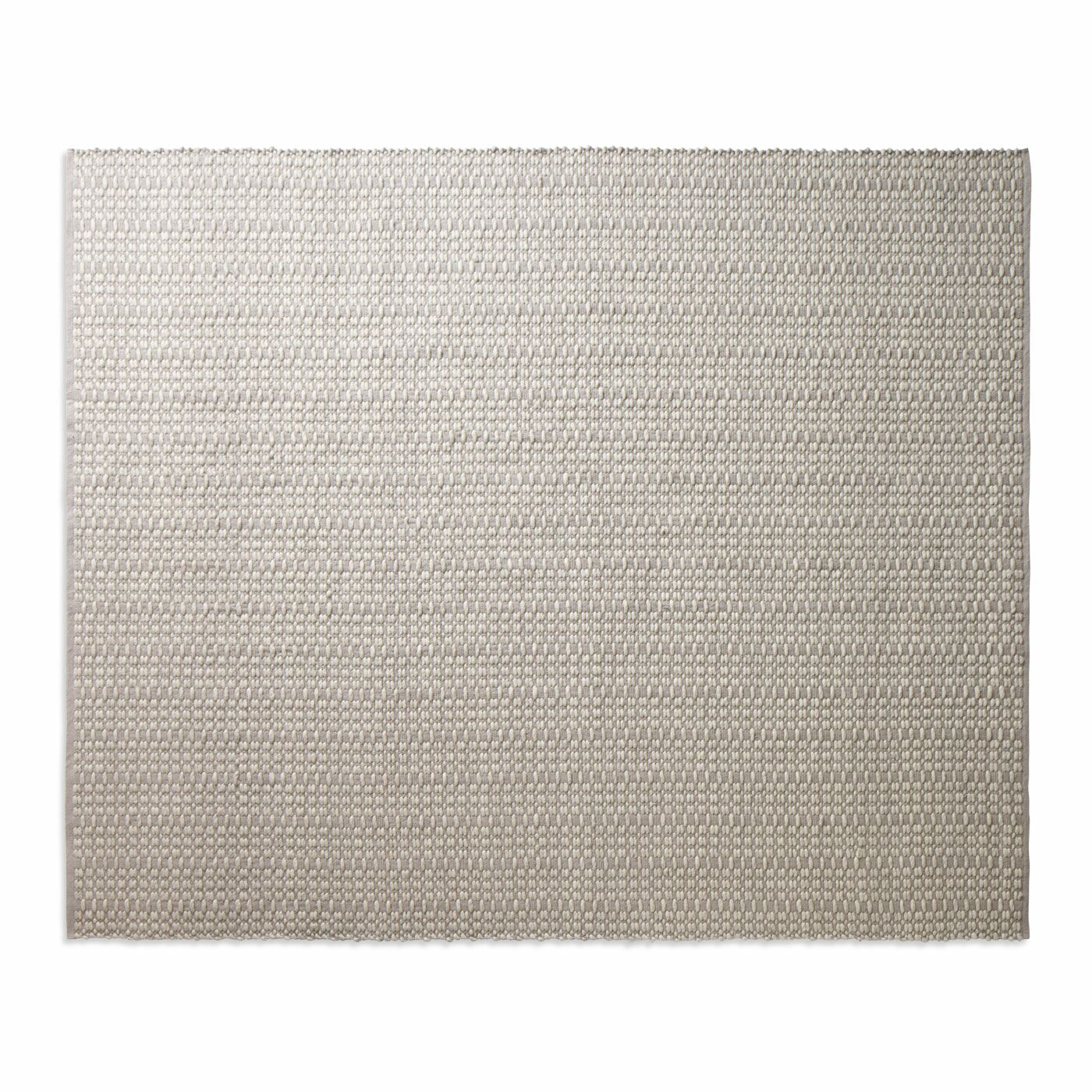 Weft Light Gray / Heathered Oatmeal Area Rug Rug Size: 8' x 10'