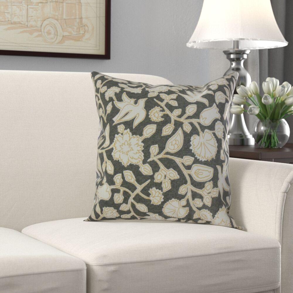 Makaila Floral Cotton Pillow Size: 24