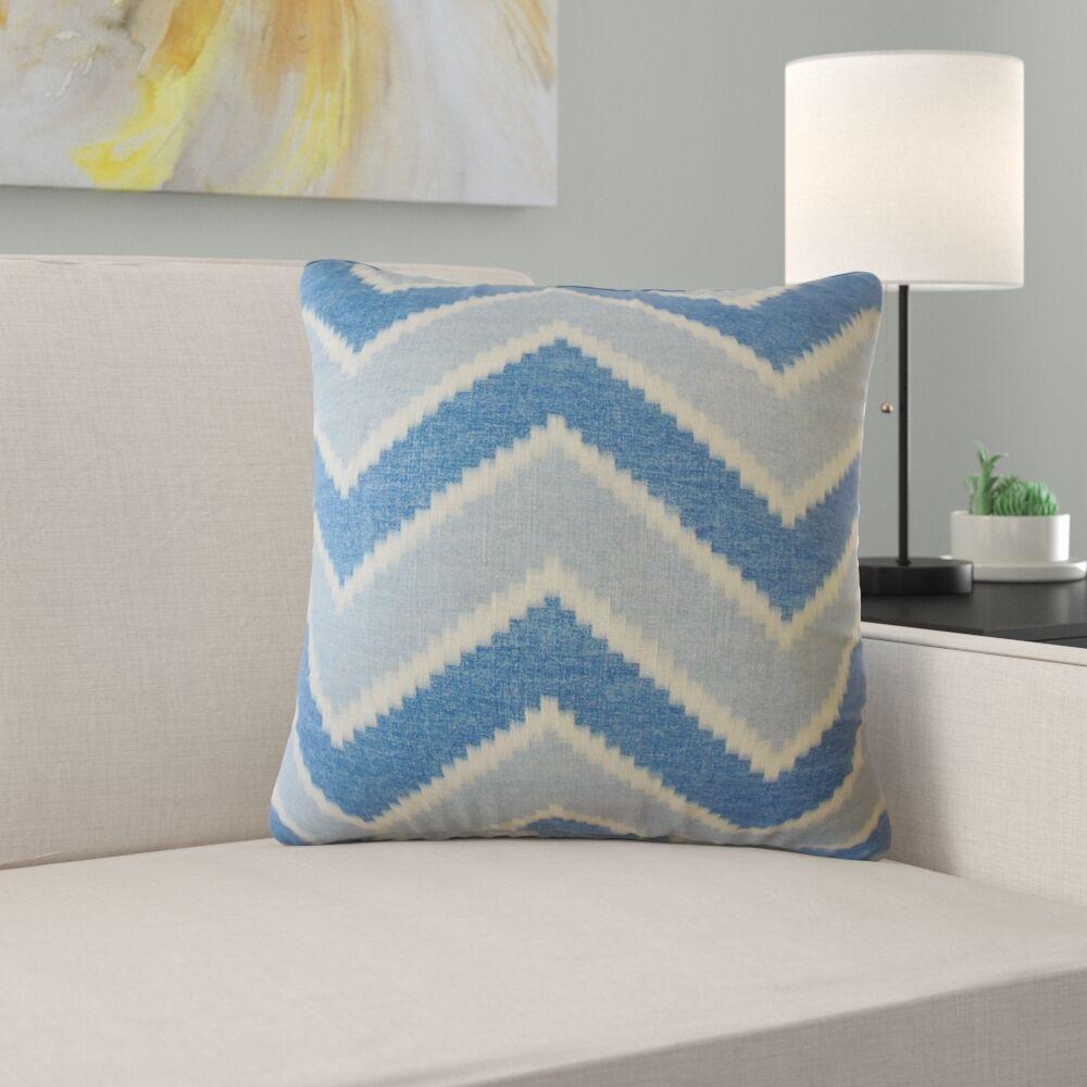 Amethyst Zigzag Linen Pillow Size: 22