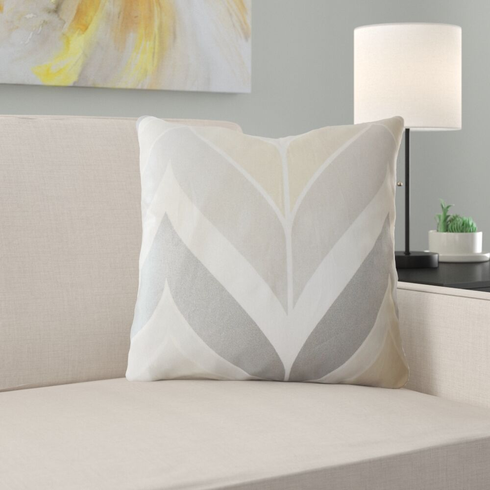 Yvaine Chevron Cotton Pillow Size: 24
