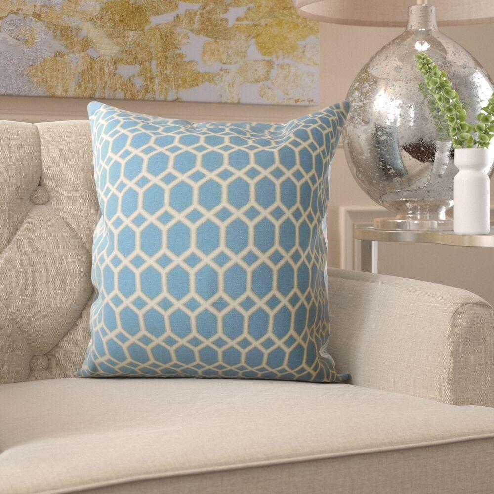 Gilroy Geometric Cotton Pillow Size: 22