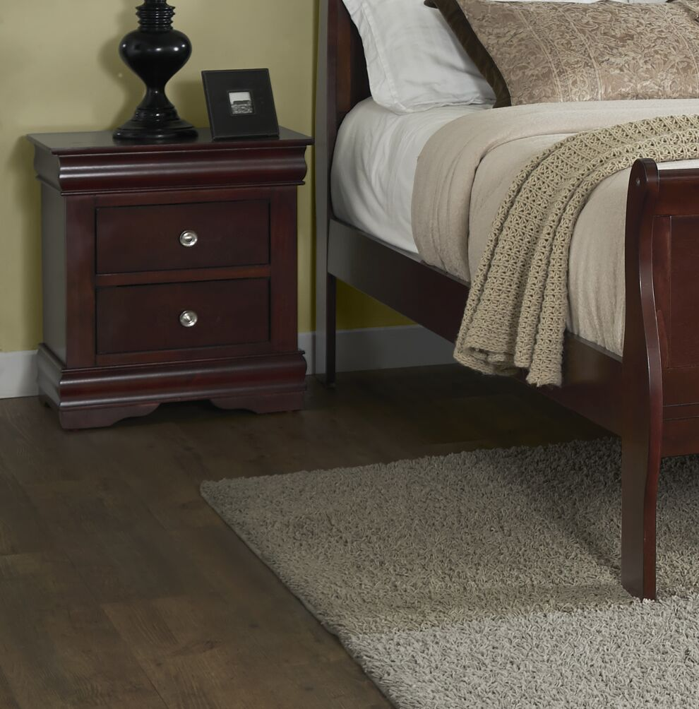 Thame 2 Drawer Nightstand Color: Cherry