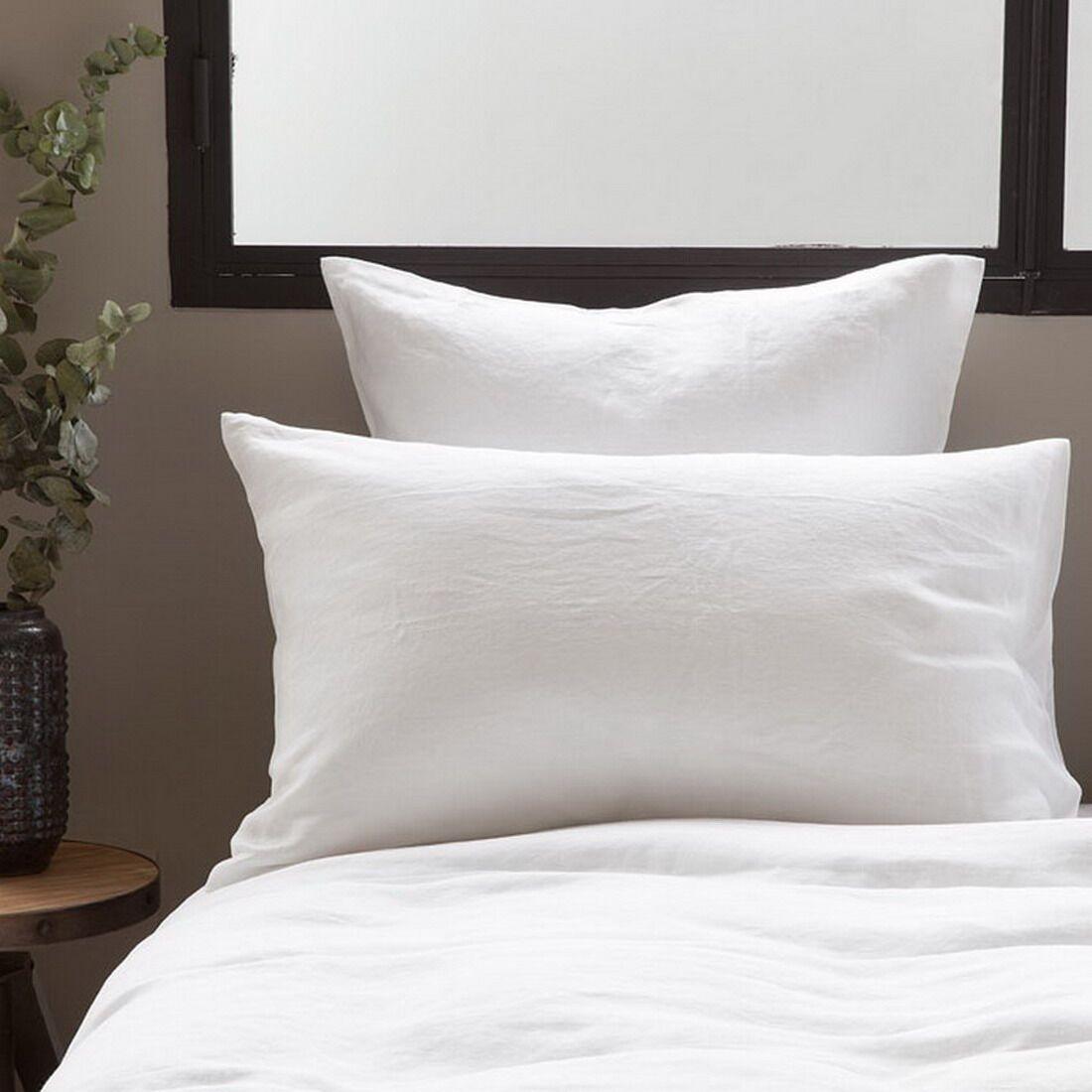 Ronny 3 Piece Linen Sheet Set Color: White