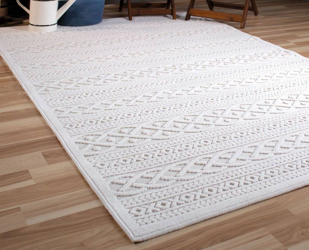 Borst Ivory Indoor/Outdoor Area Rug Rug Size: Rectangle 9' x 13'