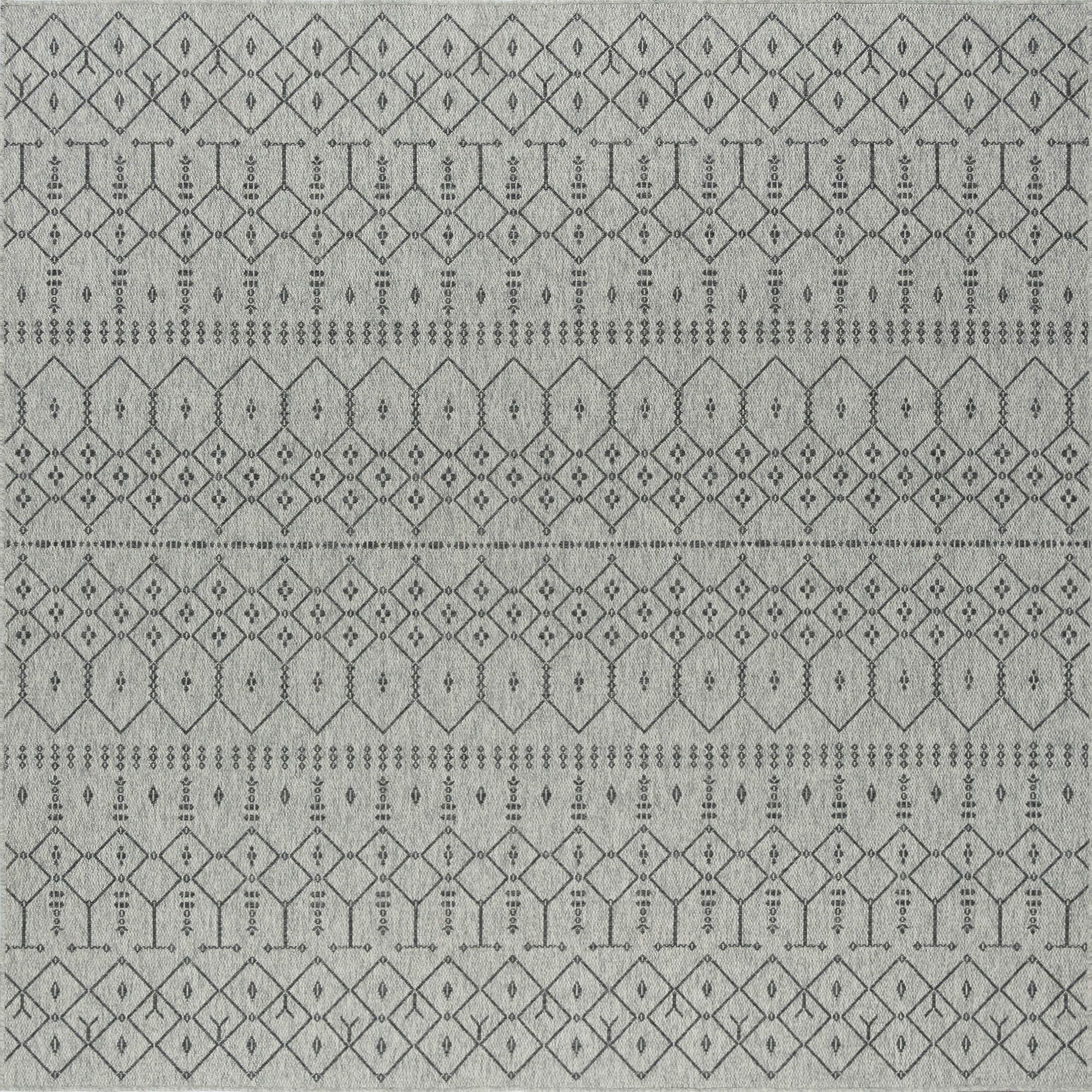 Bourke Modern Gray/Charcoal Indoor/Outdoor Area Rug Rug Size: Square 7'9''