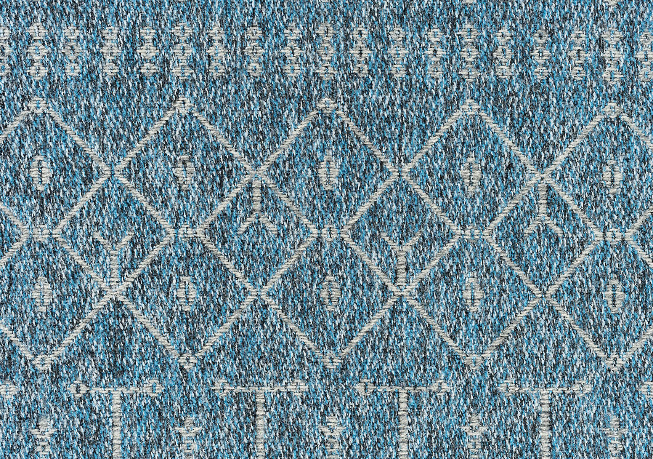 Bourke Modern Denim Indoor/Outdoor Area Rug Rug Size: Rectangle 7'9'' x 10'