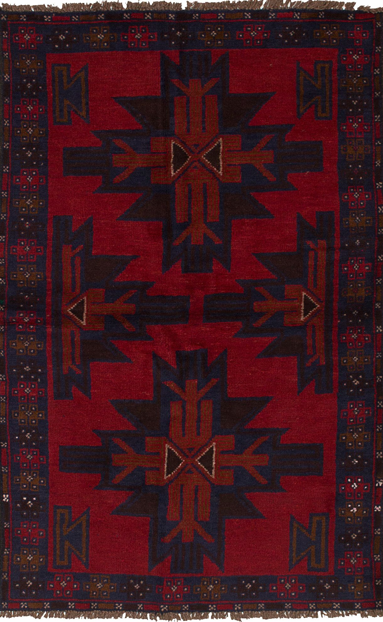 One-of-a-Kind Divine Hand-Knotted 3'8