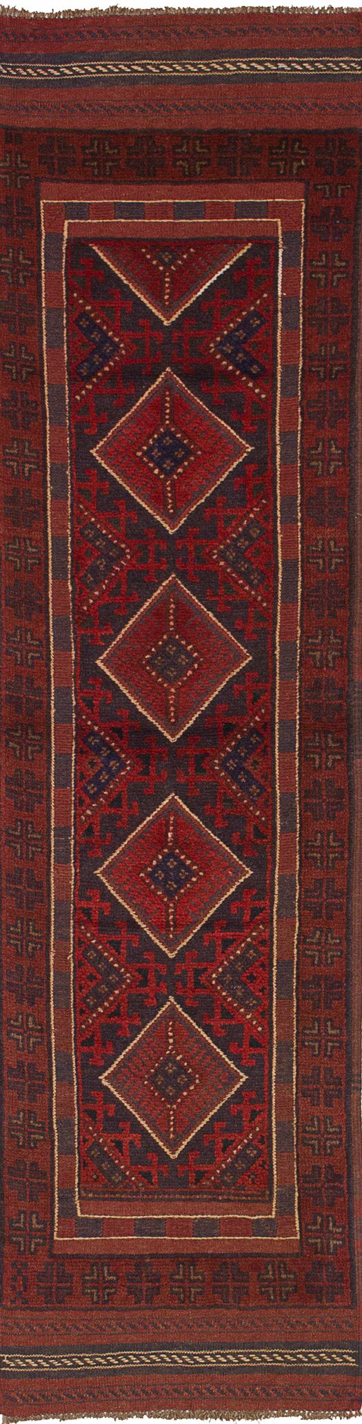 One-of-a-Kind Dizon Hand-Knotted Runner 2'1