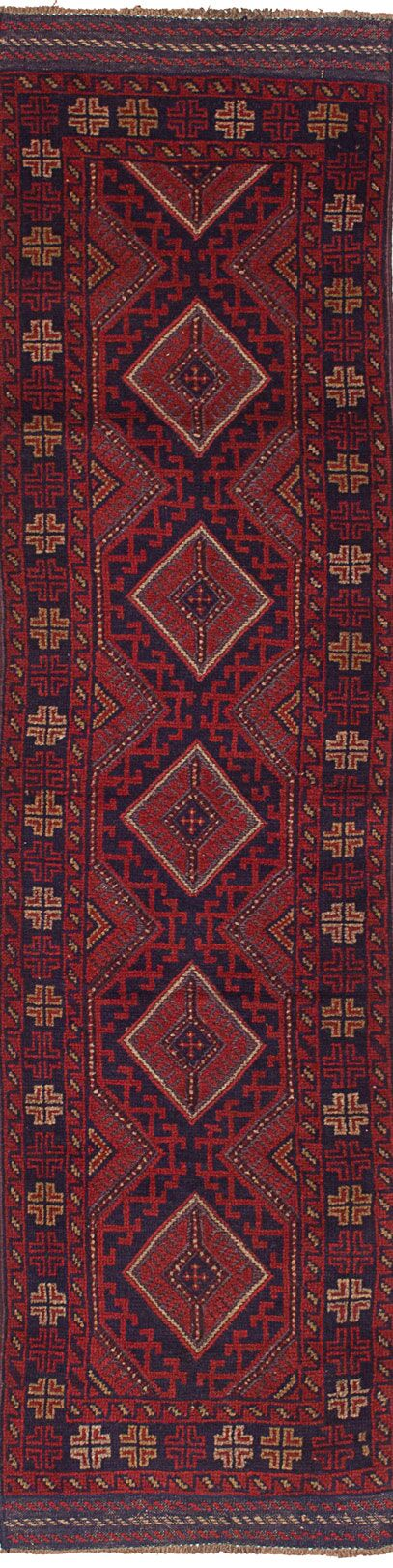One-of-a-Kind Dizon Hand-Knotted Runner 1'11