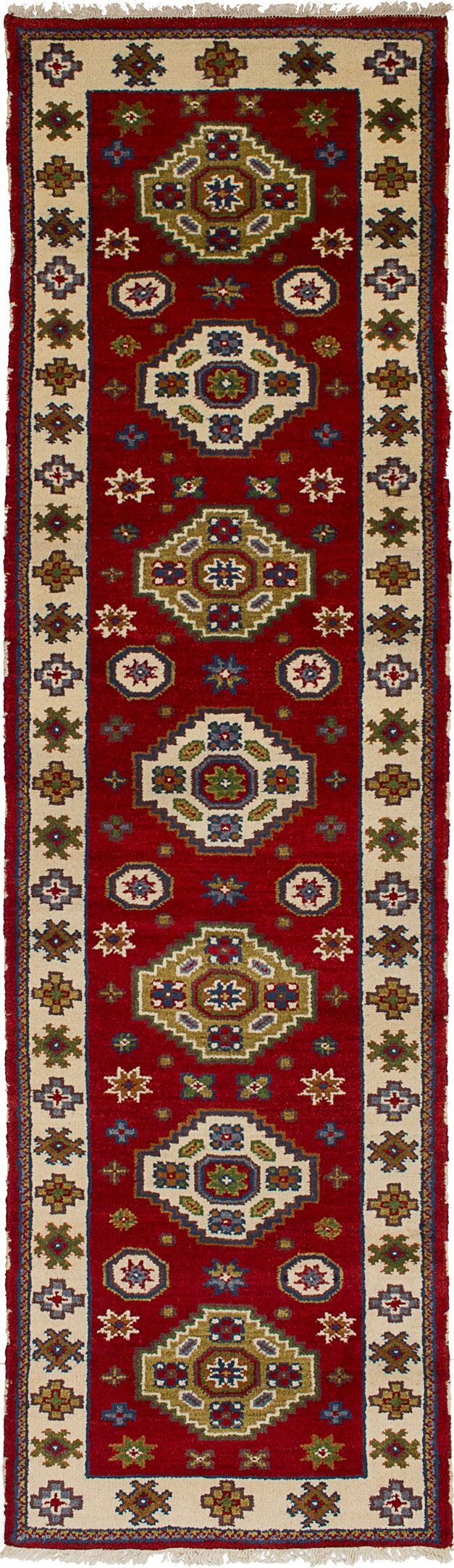 One-of-a-Kind Doering Hand-Knotted Runner 2'8
