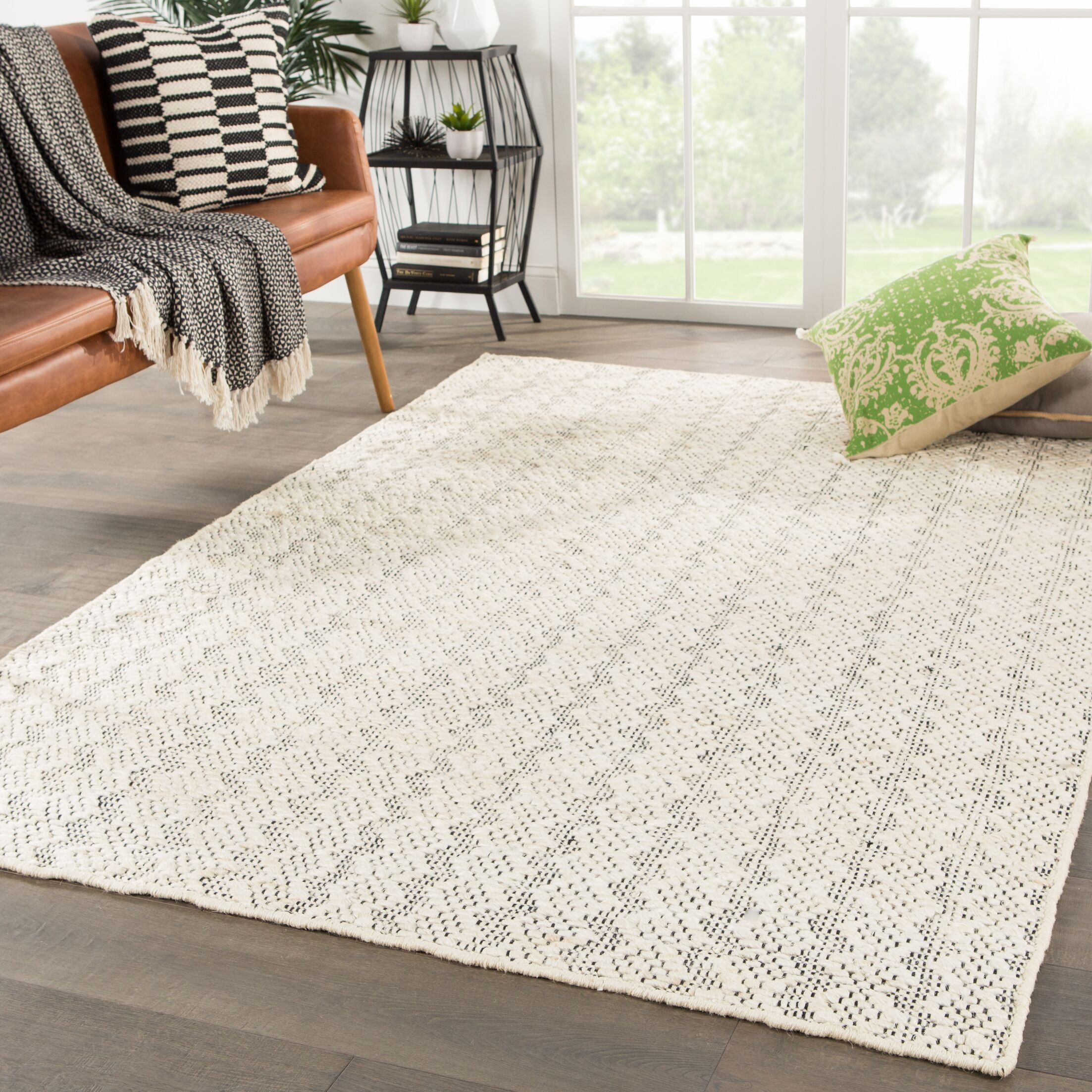 New Fairfield Natural Handwoven Flatweave Ivory Area Rug Rug Size: Rectangle 7'10