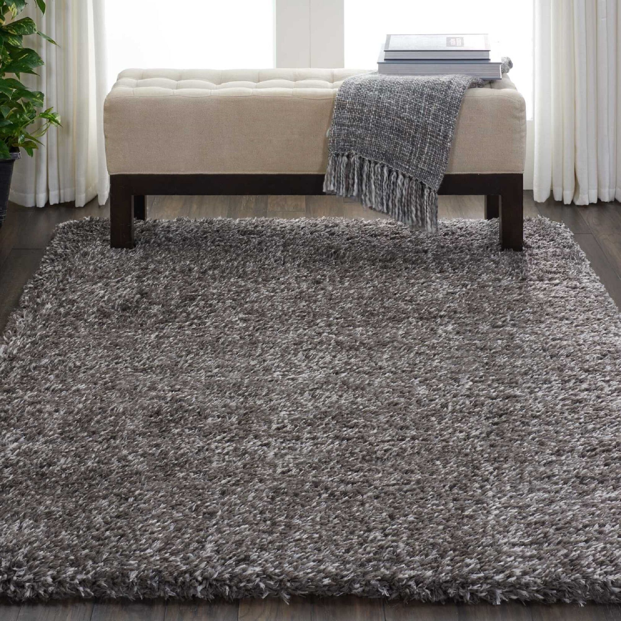 Chattahoochee Modern Solid Charcoal Grey Area Rug Rug Size: Rectangle 4' x 6'