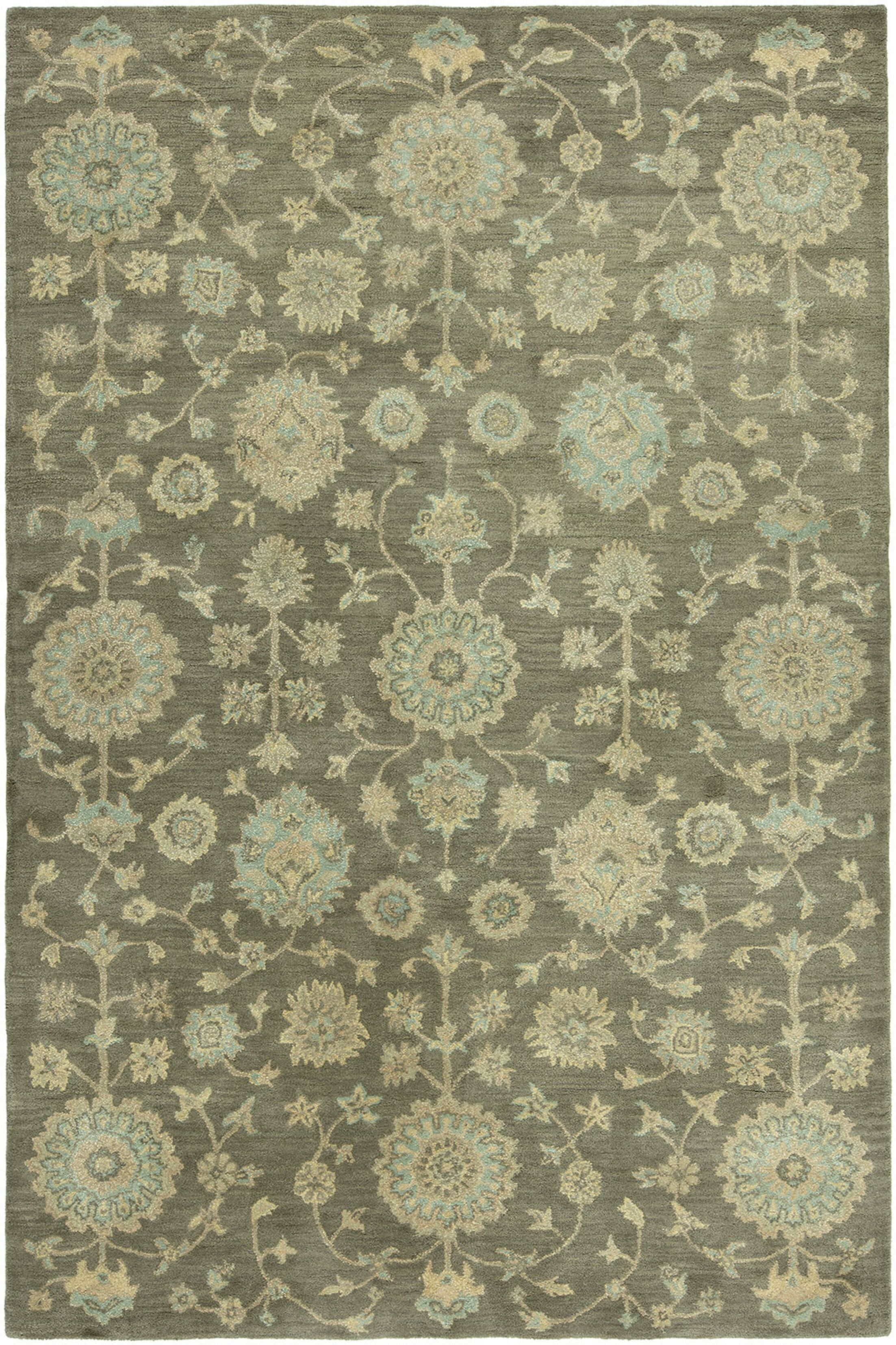 Gravette Hand-Tufted Wool Brown Area Rug Rug Size: Rectangle 3'6