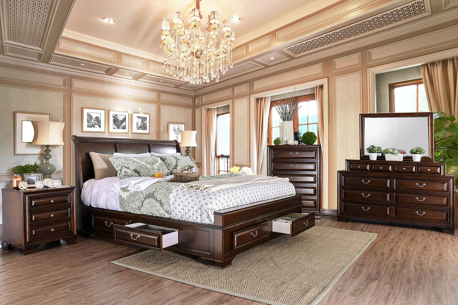 Crowborough Sleigh Configurable Bedroom Set
