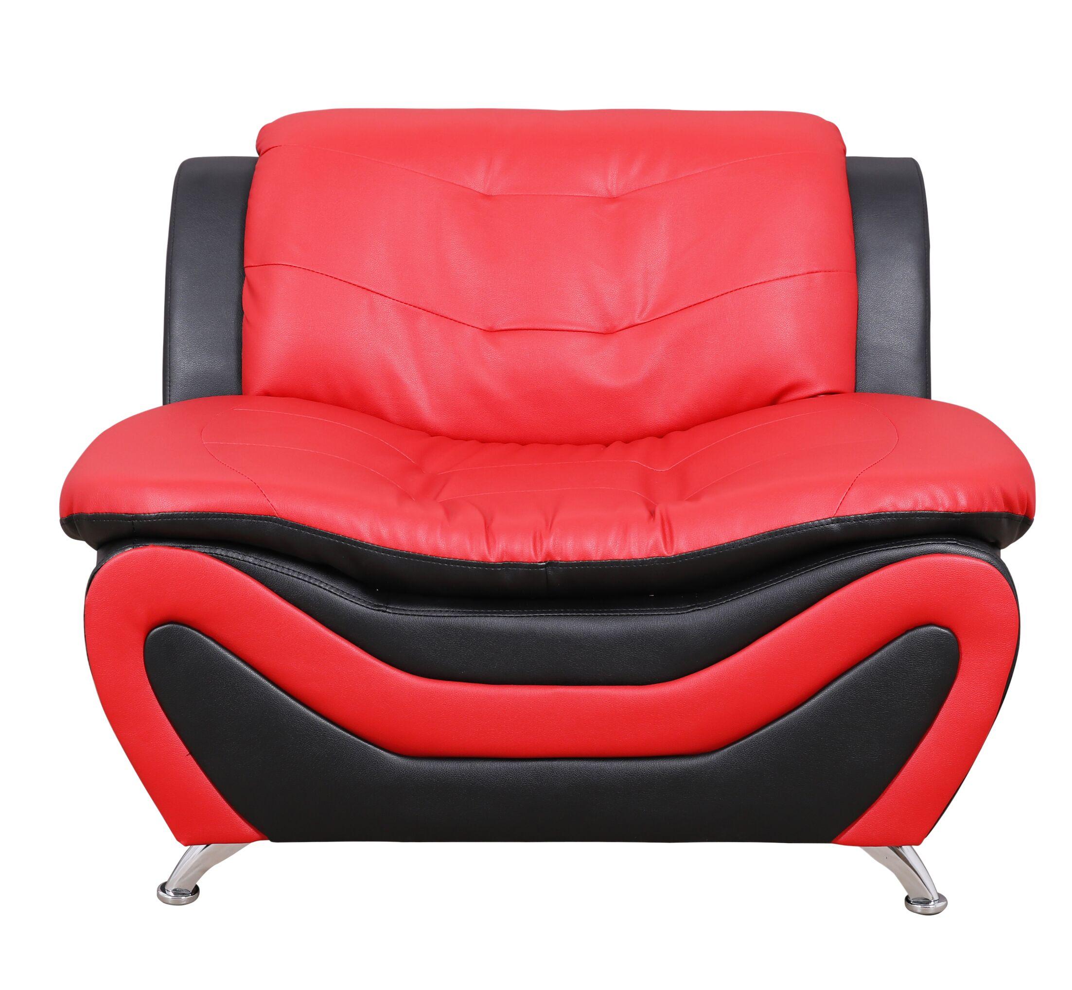 Sloane Classical Loveseat Upholstery: Black/Red
