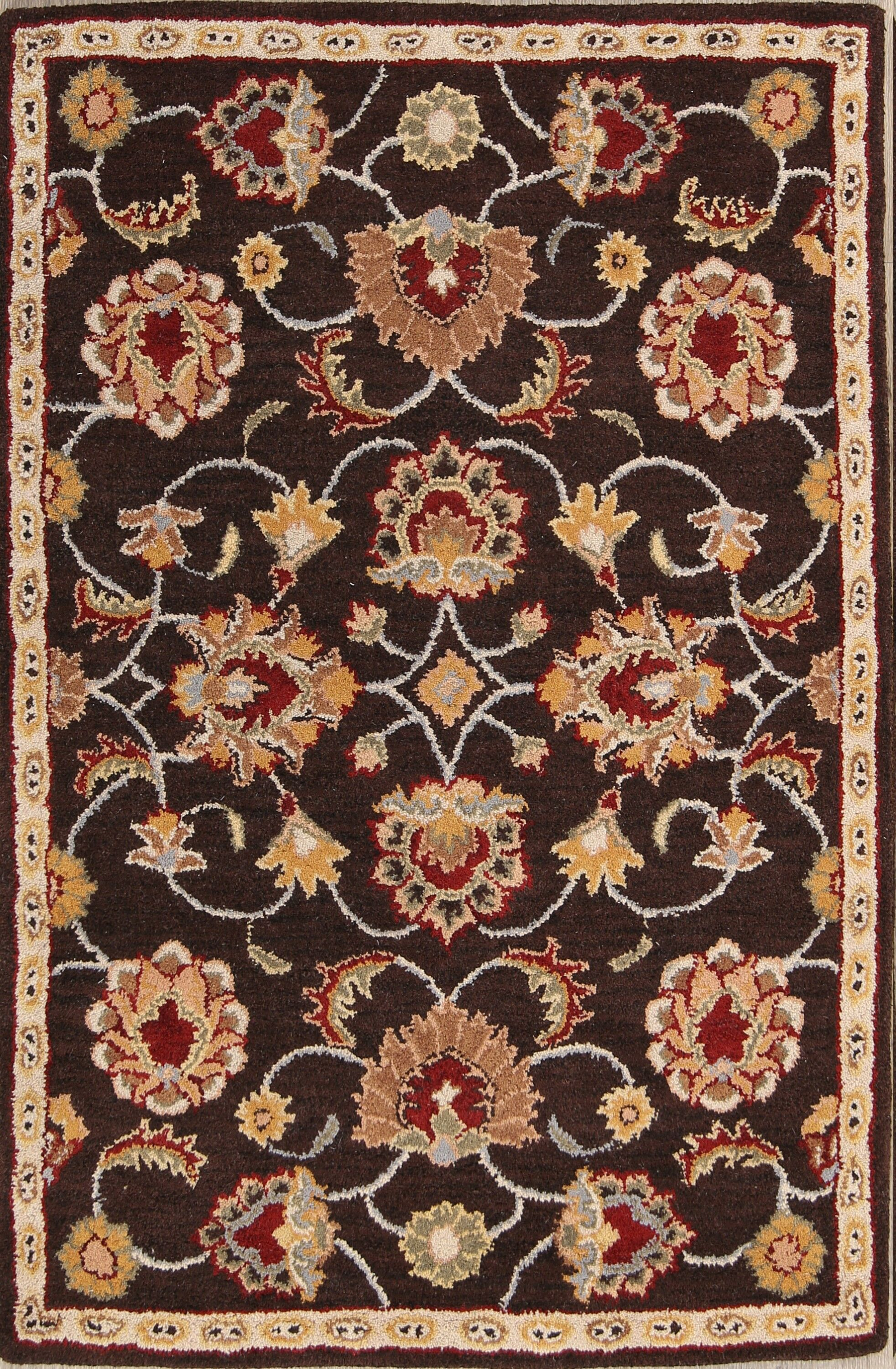 One-of-a-Kind Shmuel Hand-Tufted Wool Brown Area Rug Rug Size: Rectangle 3