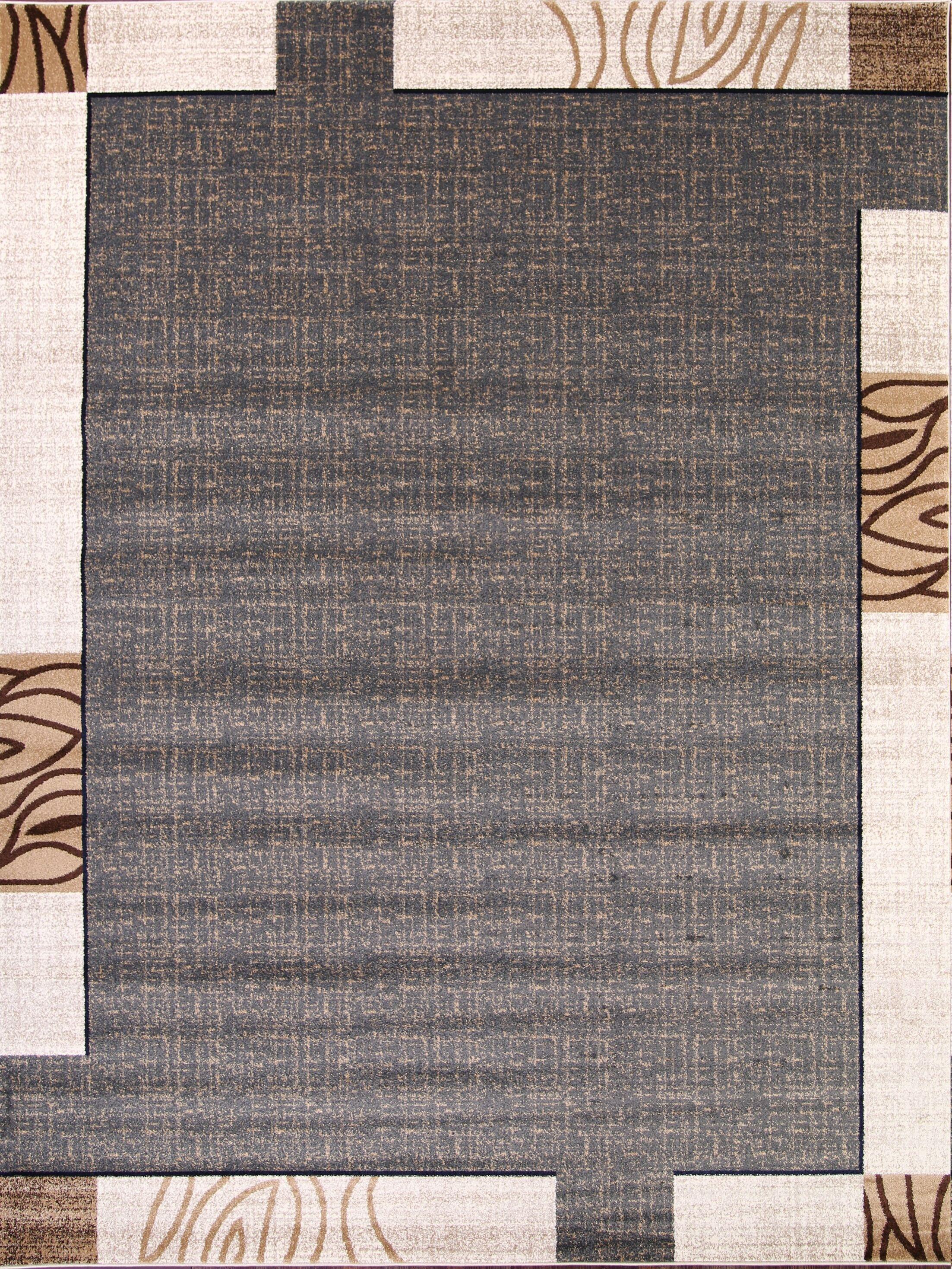 Pollitt Beige/Charcoal Area Rug Rug Size: Rectangle 4