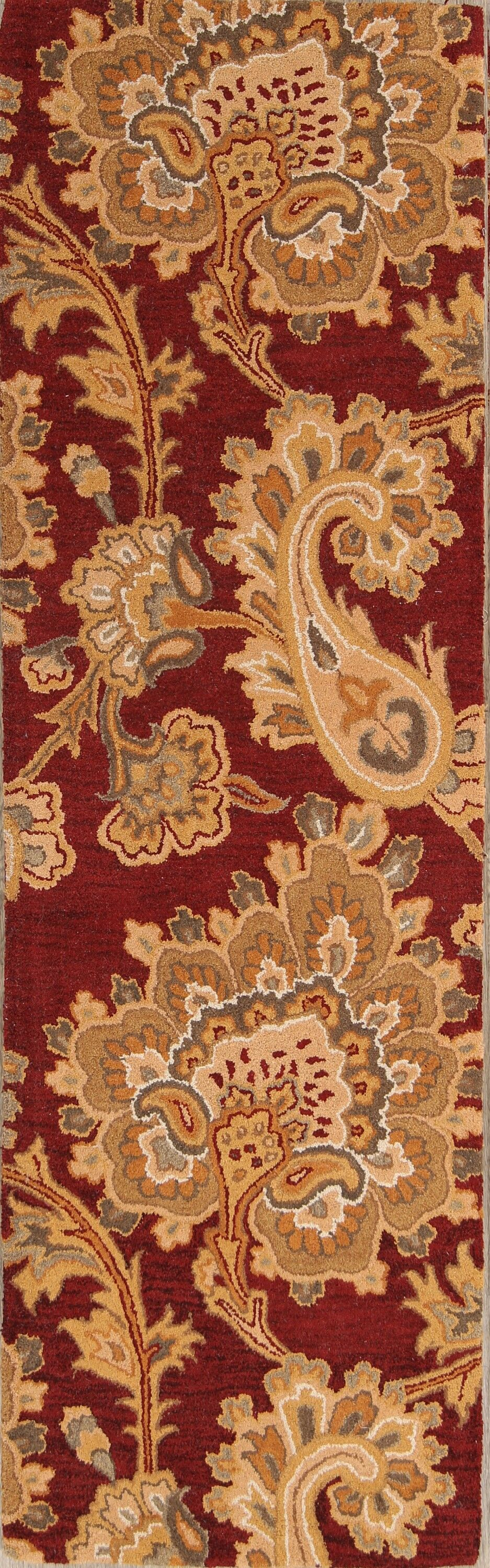 One-of-a-Kind Tadeo Hand-Tufted Wool Red/Burgundy Area Rug Rug Size: Rectangle 10