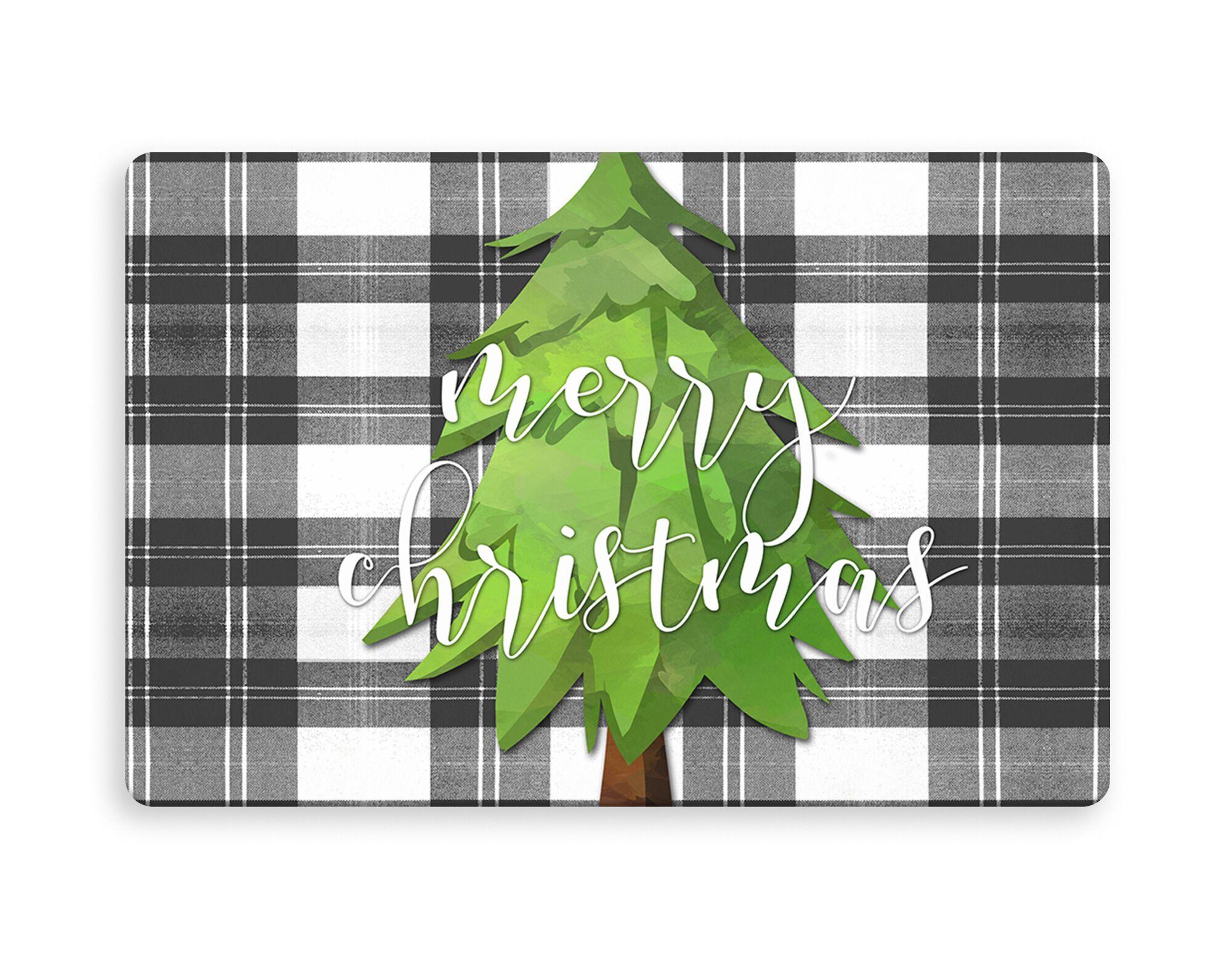 Brunner Merry Christmas Tree Kitchen Mat Mat Size: Rectangle 2'6