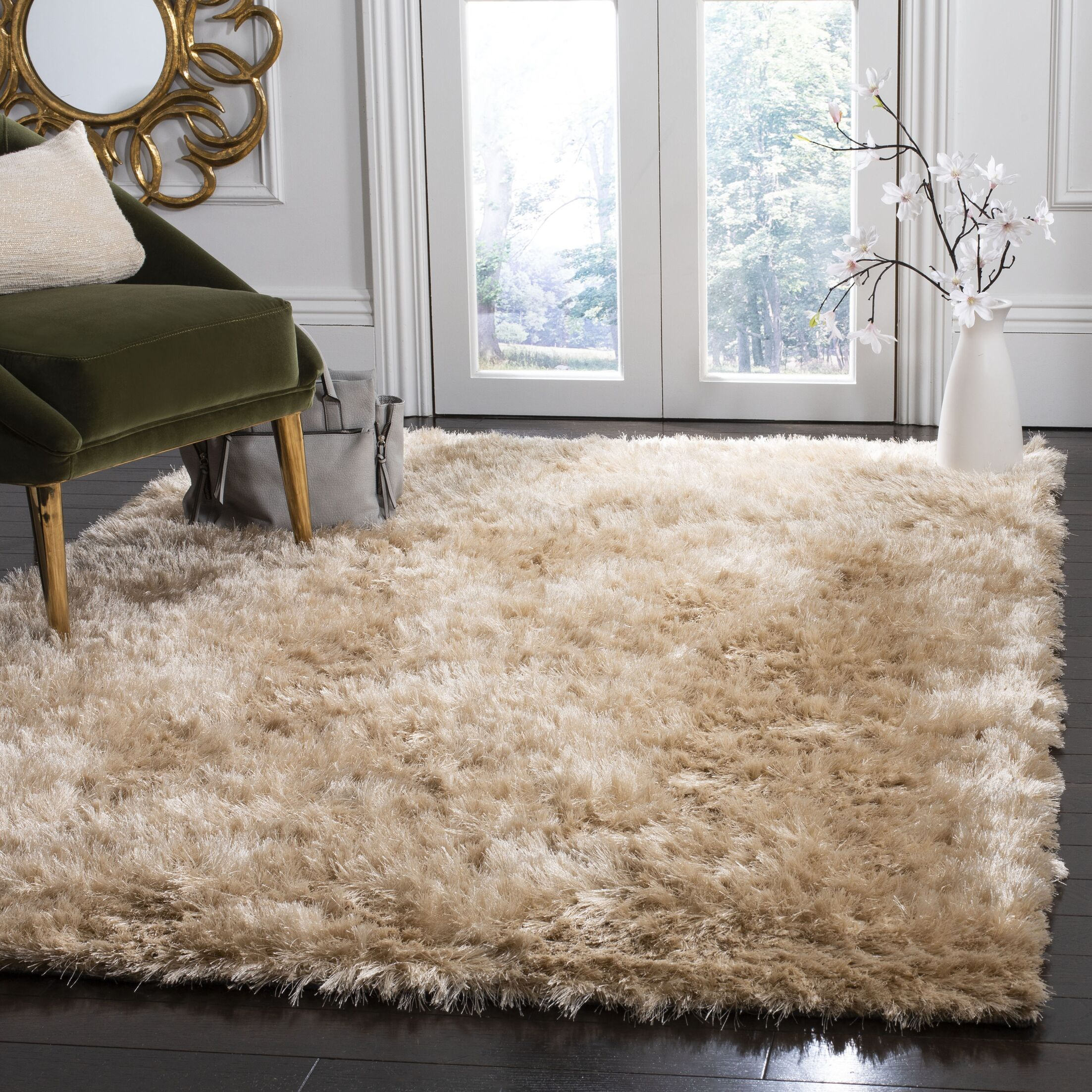 Moultrie Hand-Tufted Beige Area Rug Rug Size: Rectangle 5' X 8'