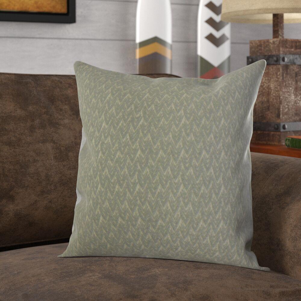 Roy Chevron Pillow Color: Ash, Size: 22