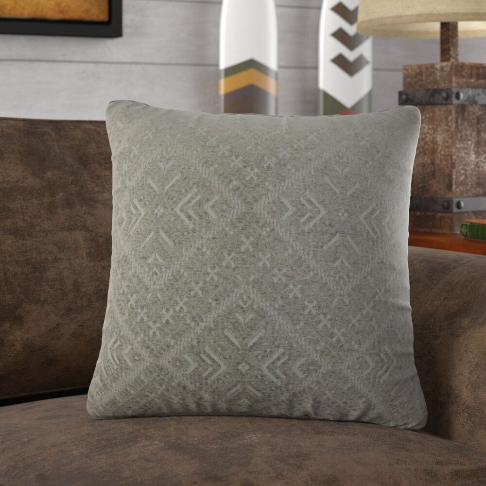 Ruff Geometric Velvet Pillow Size: 24