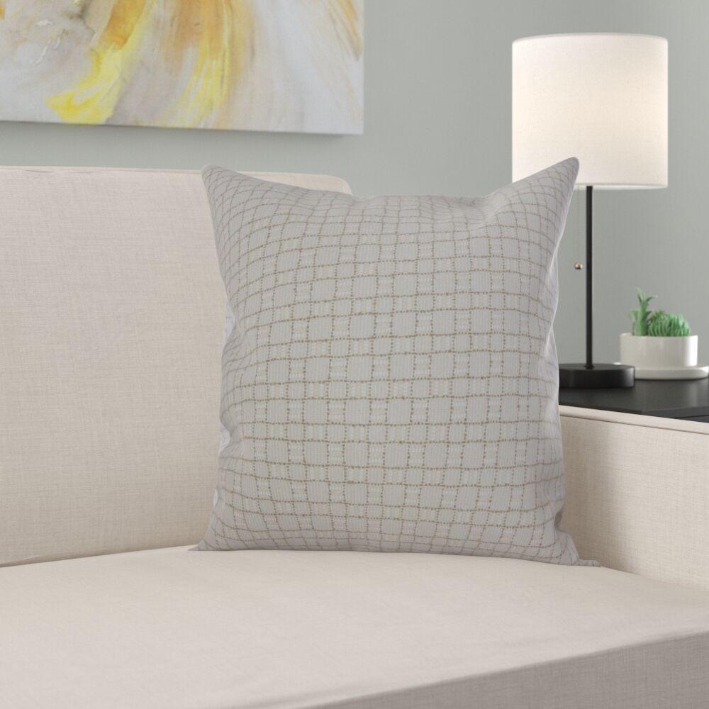 Sunday Plaid Pillow Size: 22