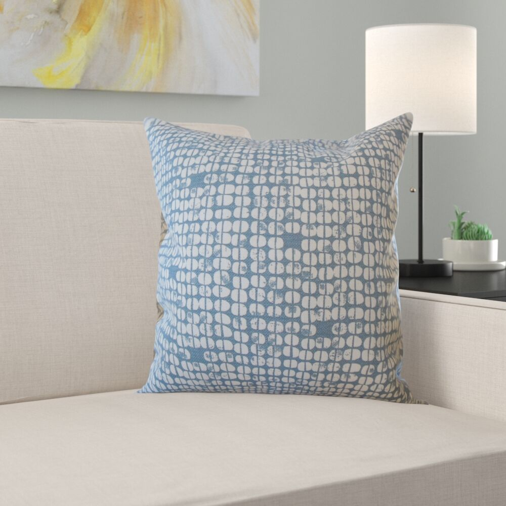 Katniss Geometric Cotton Pillow Size: 24