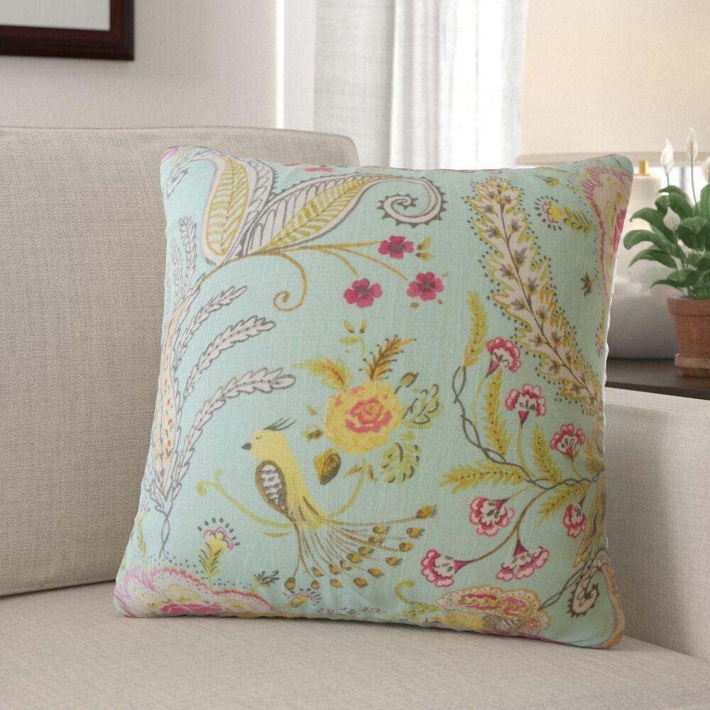 Hetzel Floral Linen Pillow Size: 20