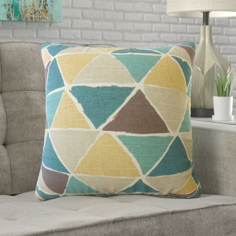Dodge Geometric Cotton Pillow Size: 24