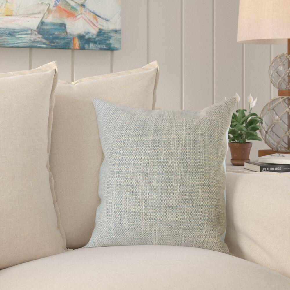 Jewel Solid Pillow Color: Bluestone, Size: 20