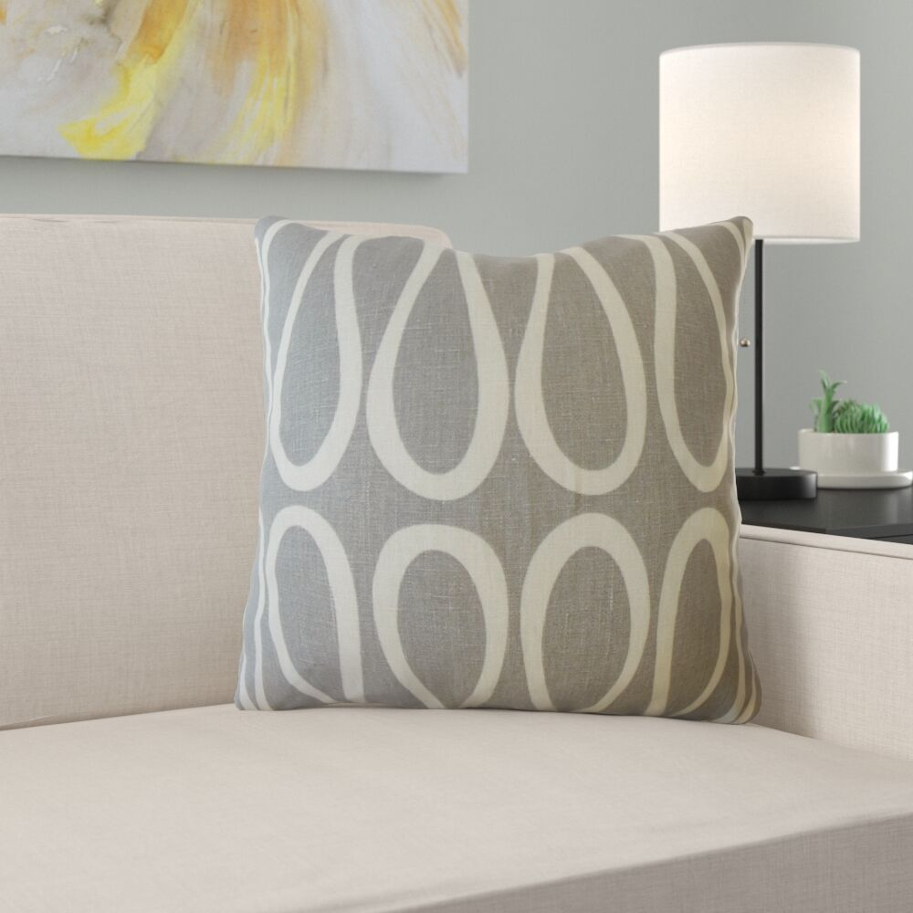 Zariah Geometric Linen Pillow Size: 22