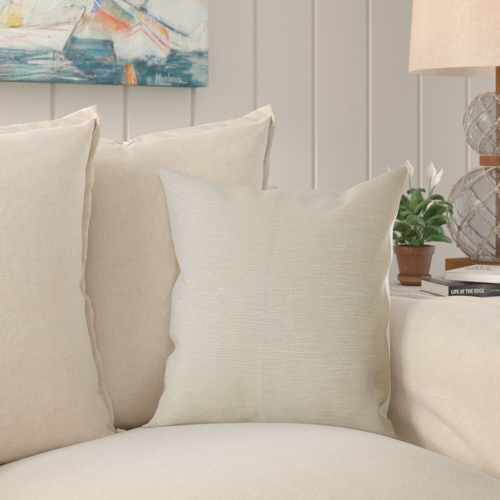 Beaty Solid Pillow Color: Ivory, Size: 22
