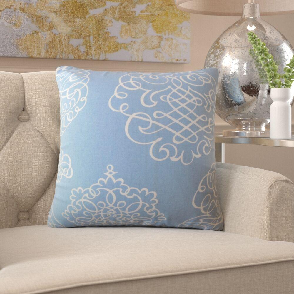 Burgess Damask Cotton Pillow Size: 22
