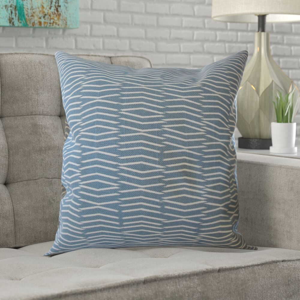 Dobson Geometric Cotton Pillow Size: 24