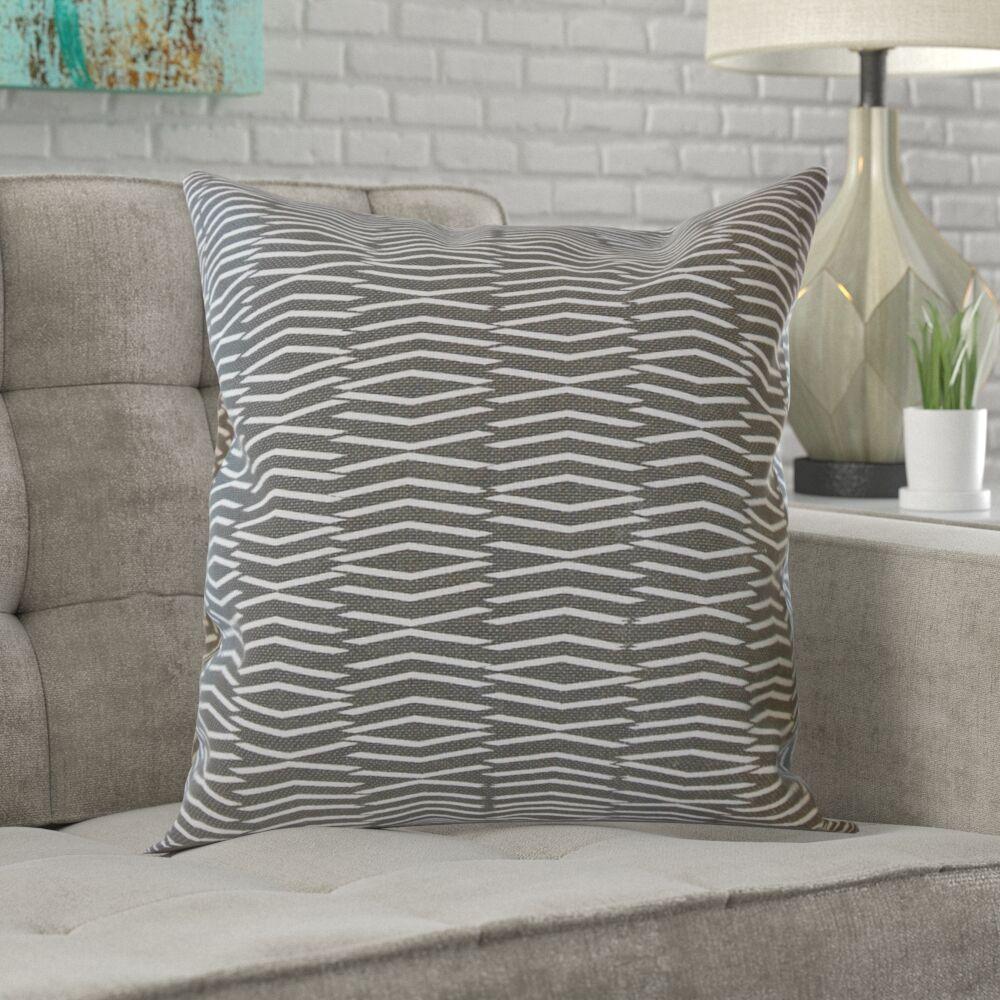 Dobson Geometric Cotton Pillow Size: 22