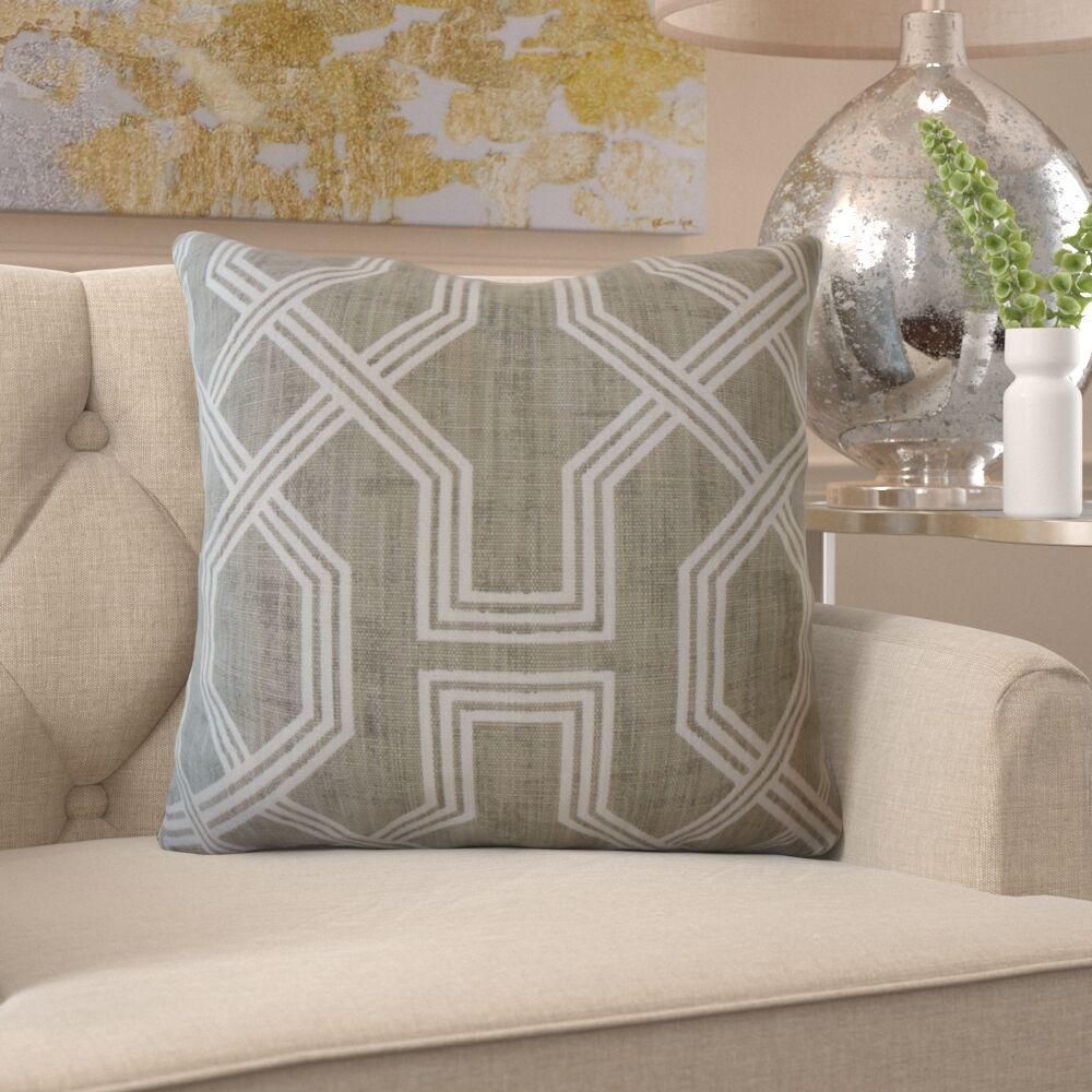 Burr Geometric Pillow Color: Graphite, Size: 22