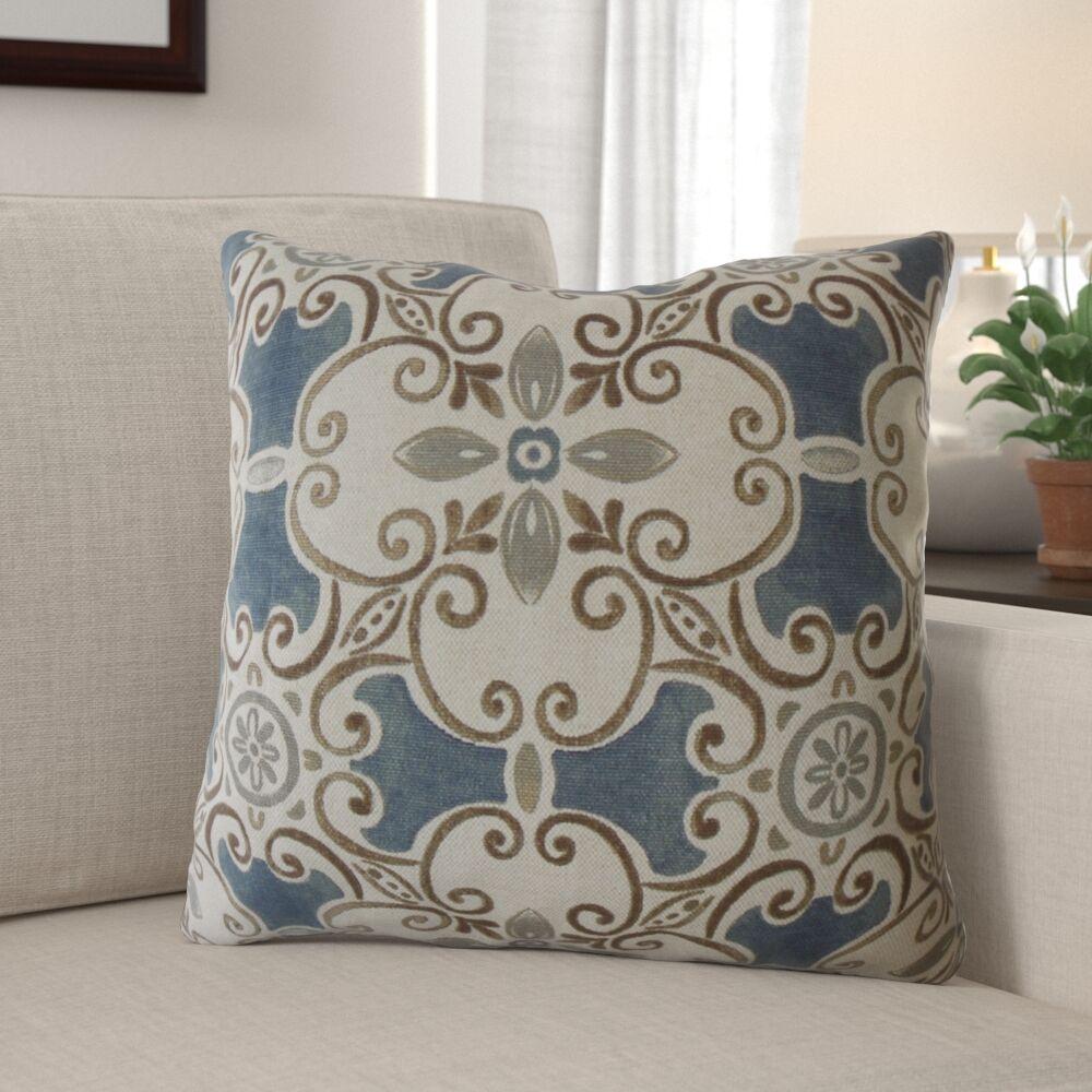 Bevill Damask Pillow Size: 24