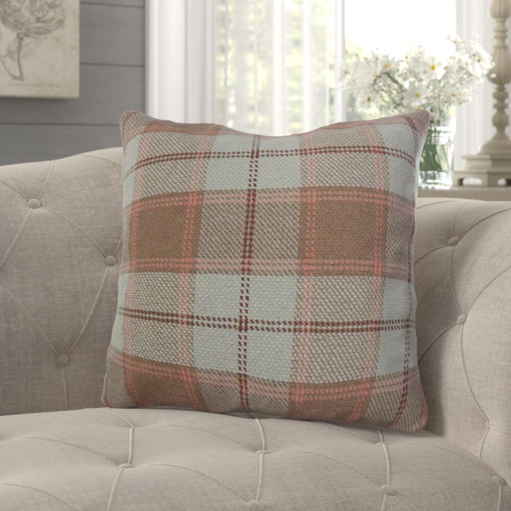 Merchant Plaid Pillow Color: Brown, Size: 22