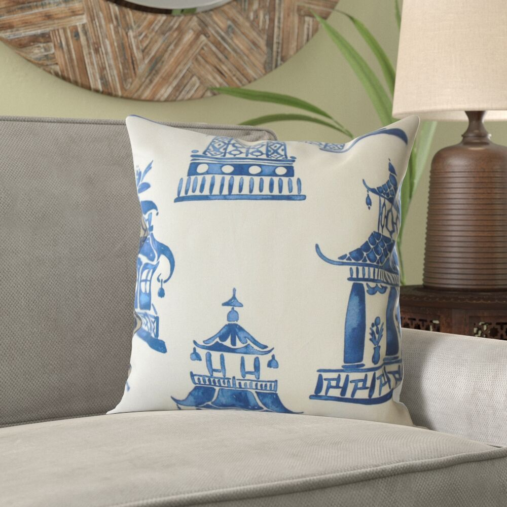 Mission Chinoiserie Cotton Pillow Size: 24
