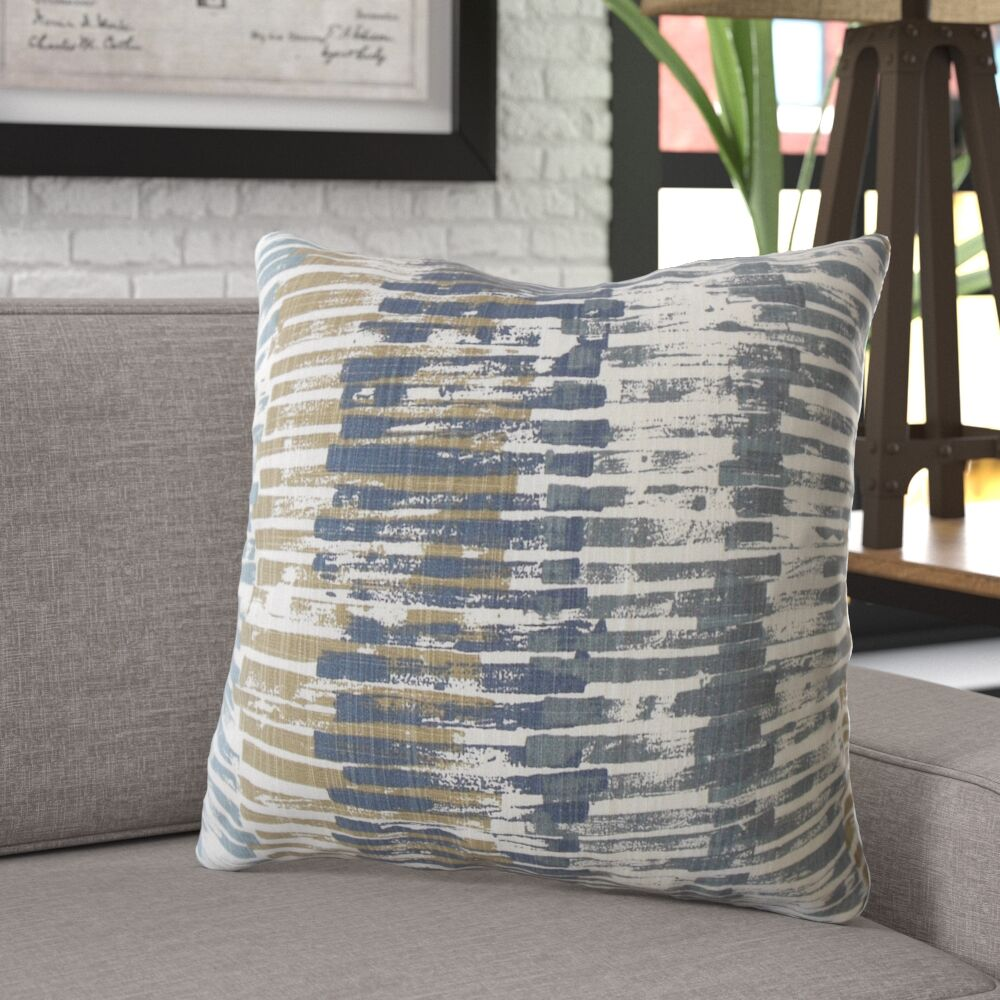 Denton Stripes Cotton Pillow Size: 24