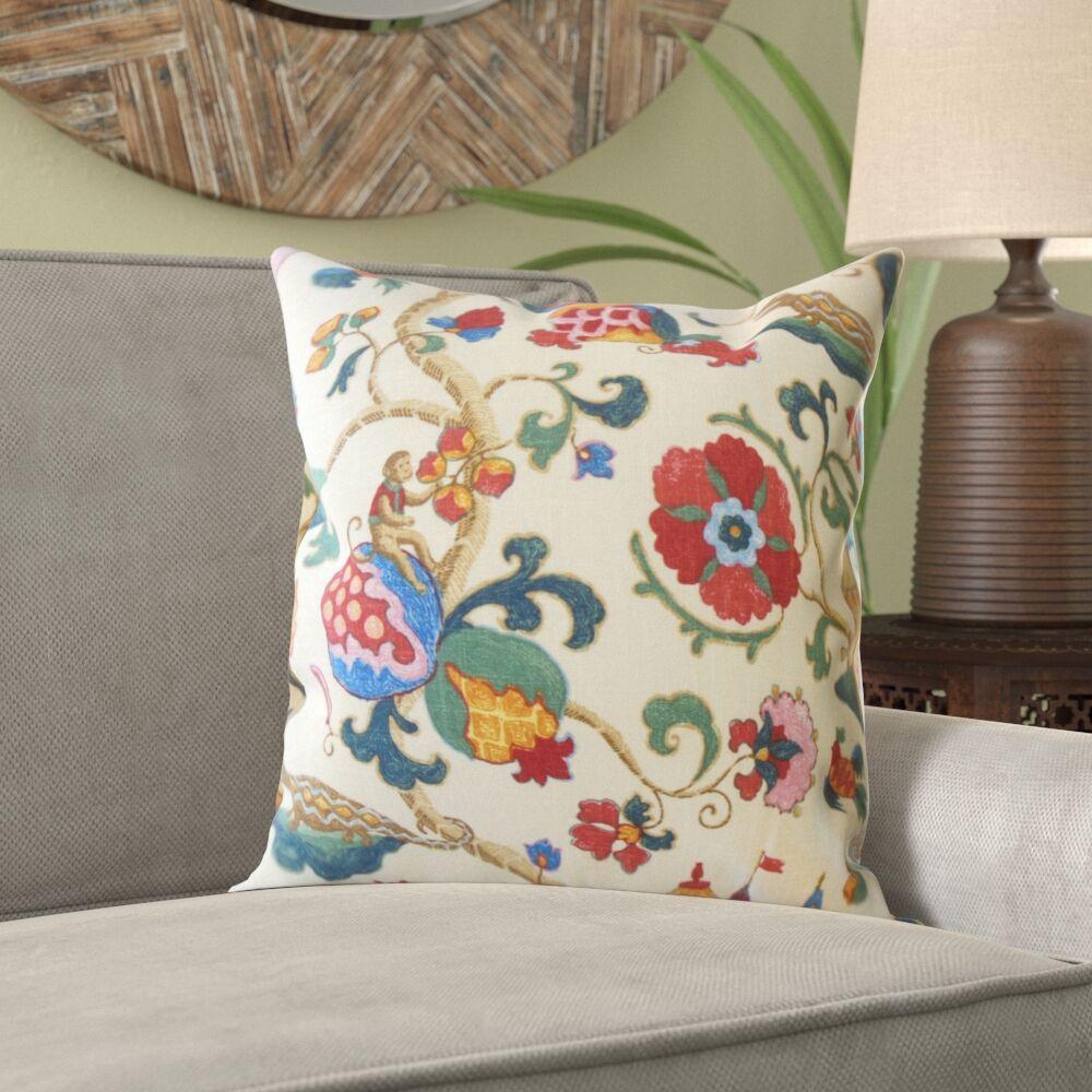 Naglee Floral Linen Pillow Size: 24