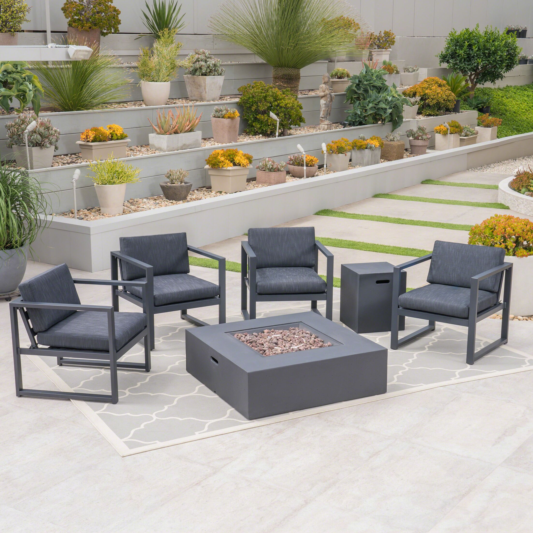 Seabrooks Outdoor 6 Piece Sofa Seating Group with Cushions