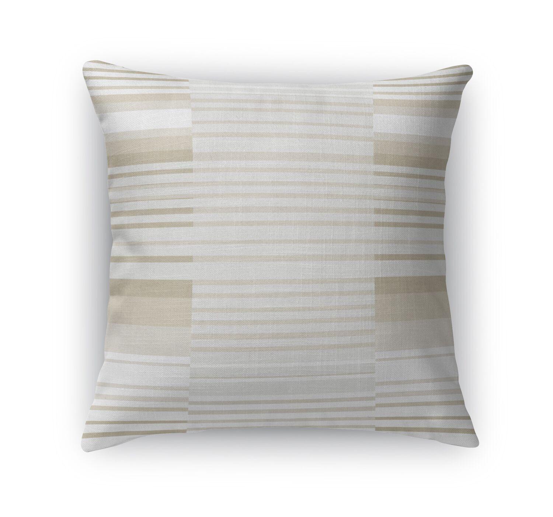 Bauhaus Stripe Throw Pillow Size: 24
